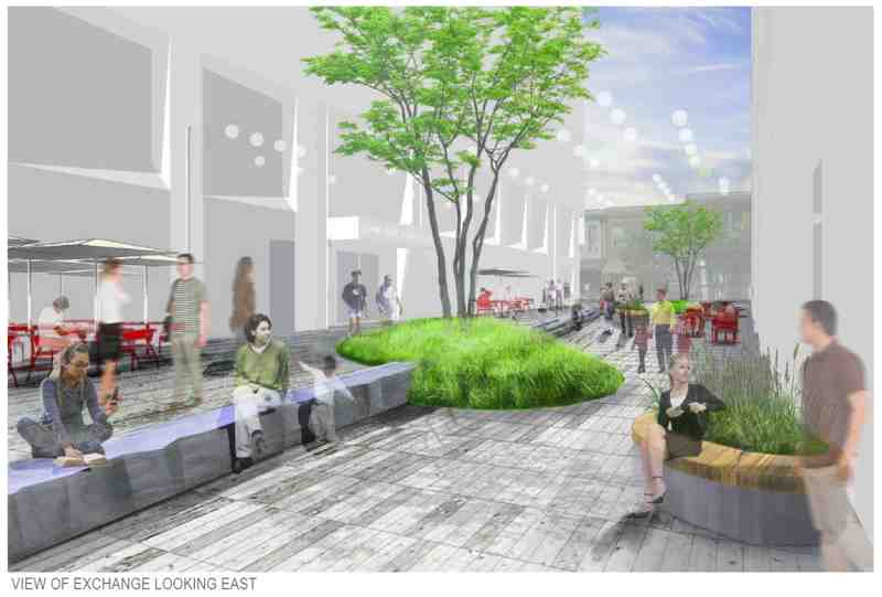 Rendering of Exchange Plaza