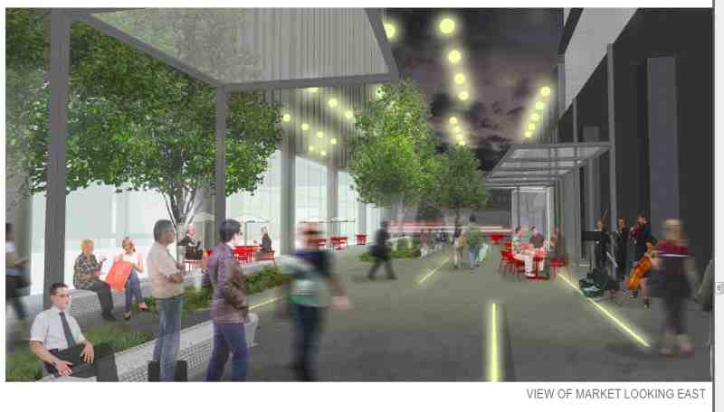 Rendering of Market Plaza