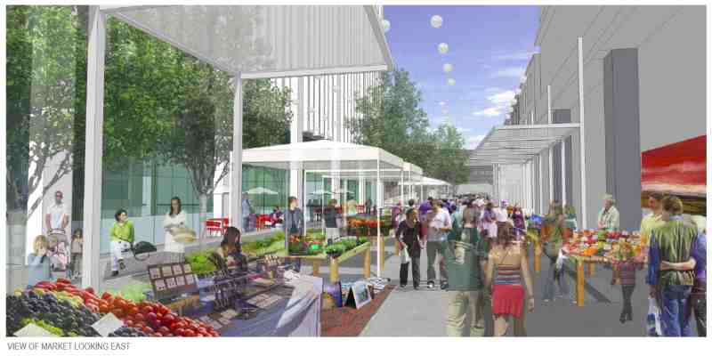 Rendering of Market Plaza