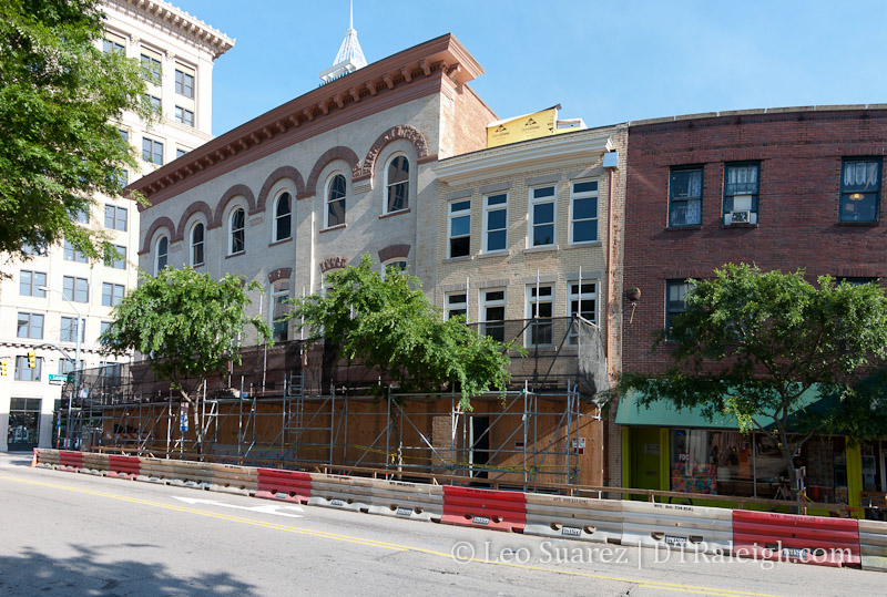 Building on West Hargett Street, May 2013