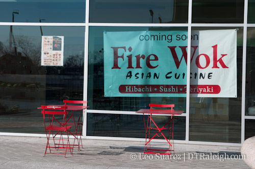 Fire Wok in City Plaza, Raleigh.