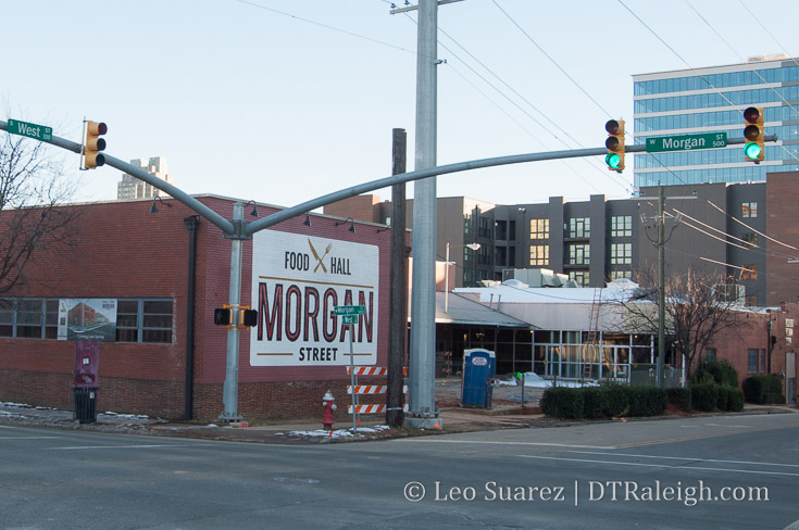 Construction continues on Morgan Street Food Hall
