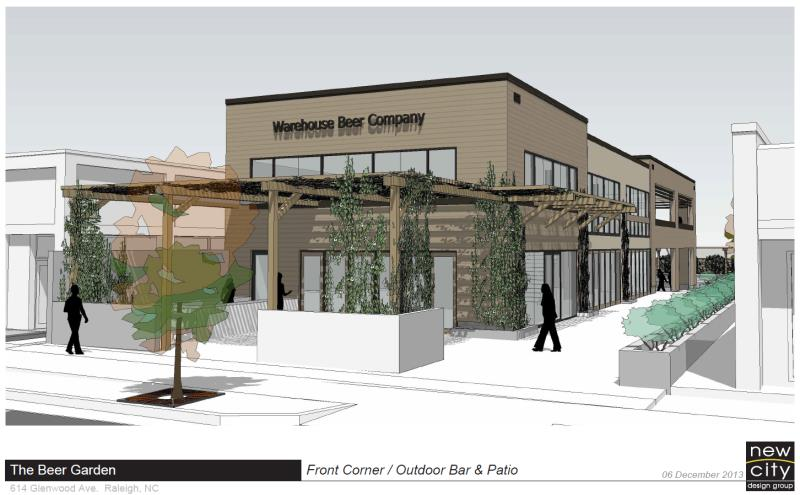 rendering of the raleigh beer garden - Raleigh Beer Garden
