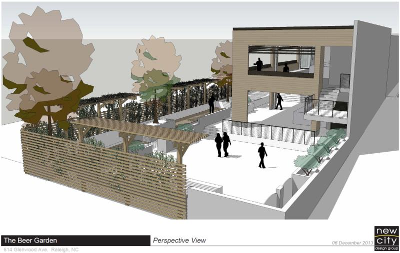 Rendering of the Raleigh Beer Garden
