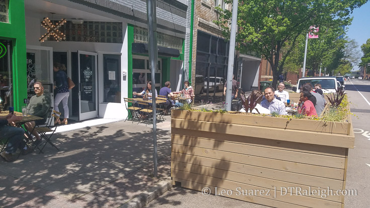 Parklet on Salisbury Street