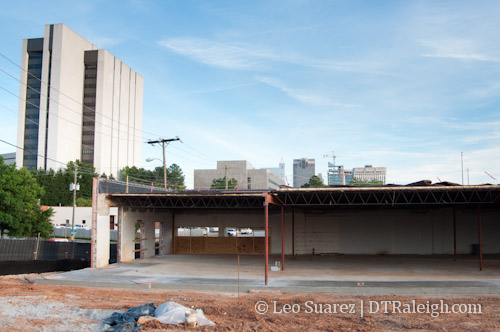 Warehouses in Seaboard Station under heavy renovation along Seaboard Avenue on June 16, 2012.