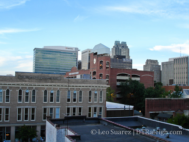 Downtown Raleigh, July 2006.
