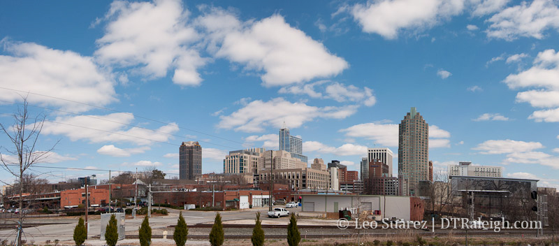 Raleigh Skyline in March 2013