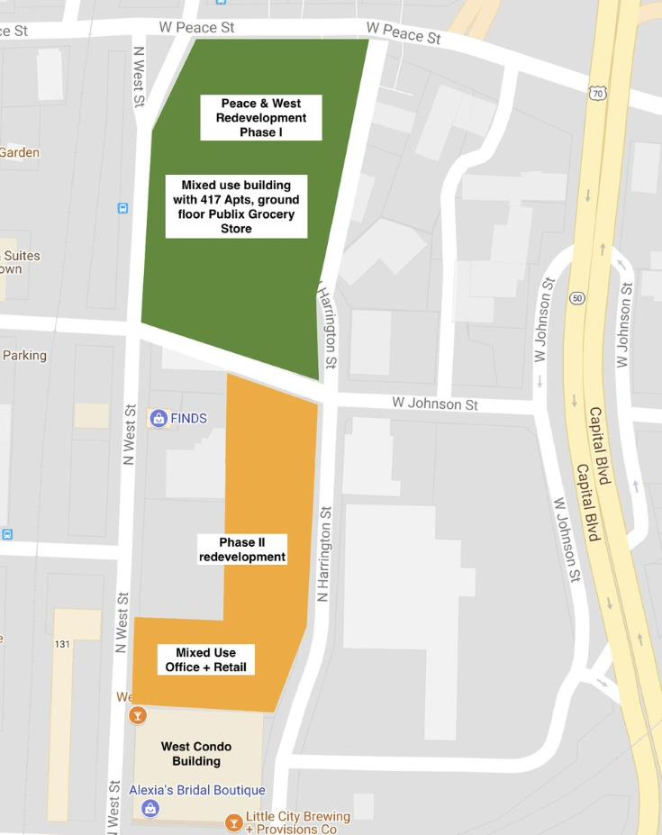 Map of planned developments in Smokey Hollow