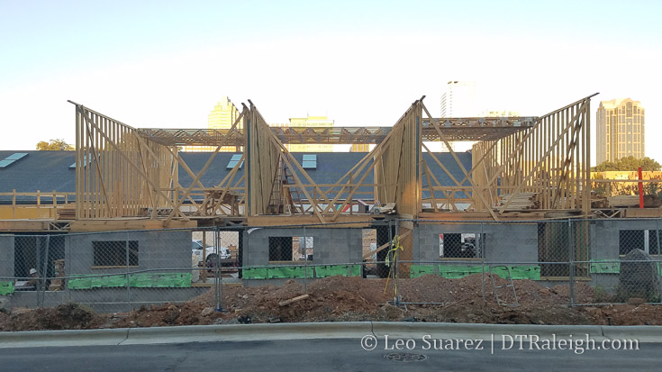 The Ware townhomes under construction