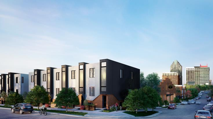 Rendering of The Ware townhomes