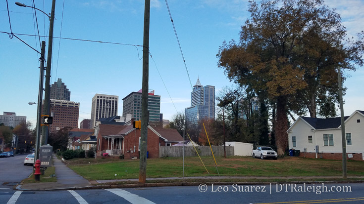 Corner of Bloodworth and Cabarrus Streets.