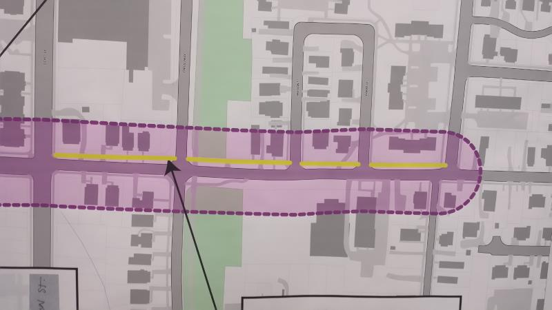 East Cabarrus Street - Sidewalks proposed for the northern side.