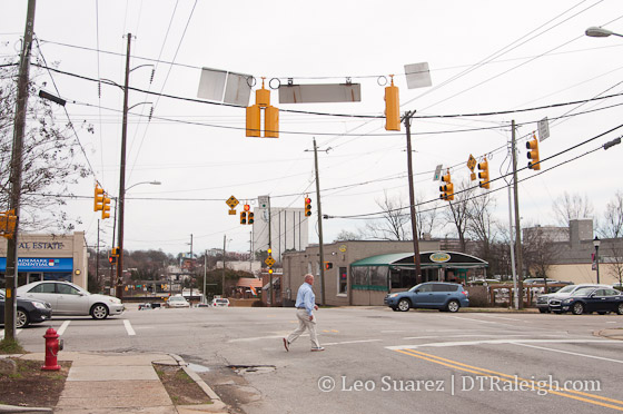 Intersection of Glenwood Avenue and Peace Street