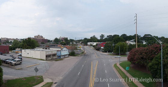 Looking West down Peace Street, August 2016