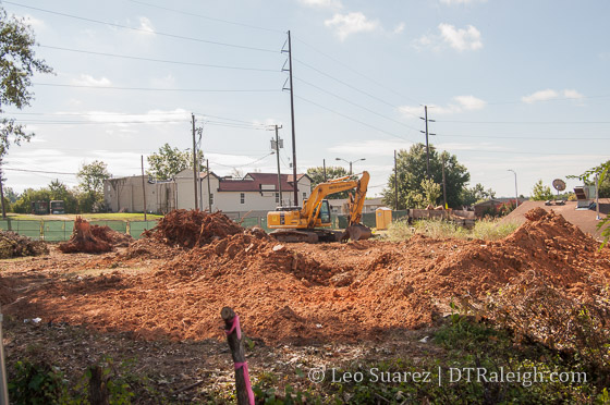 Land clearing for townhomes, August 2016