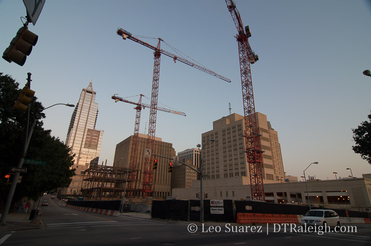 Justice Center Construction Site, September 2009