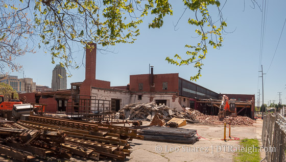 Demolition taking place at The Dillon