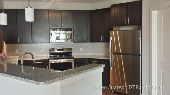 Modern kitchens at The Lincoln Apartments