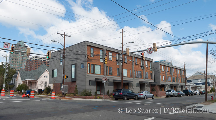 The Ten at Person Street townhomes