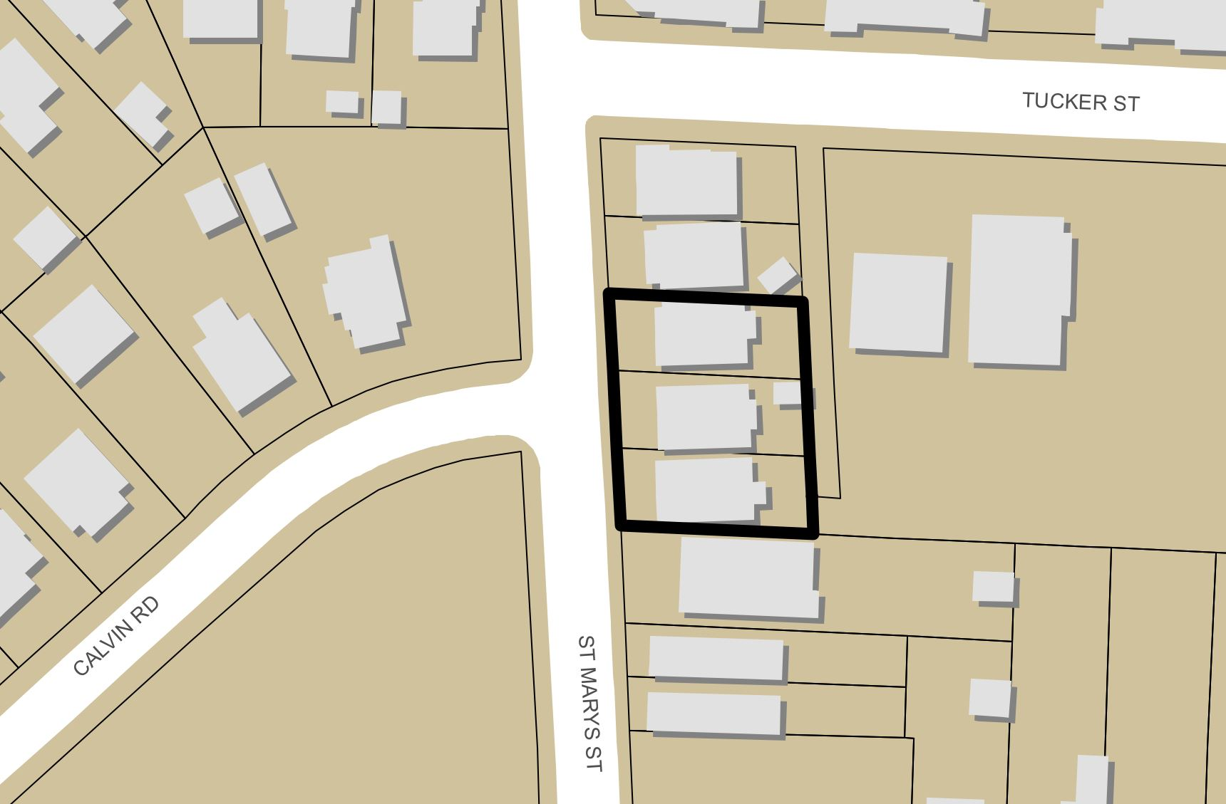 Plans Show New Townhome Project for St. Mary\'s Street