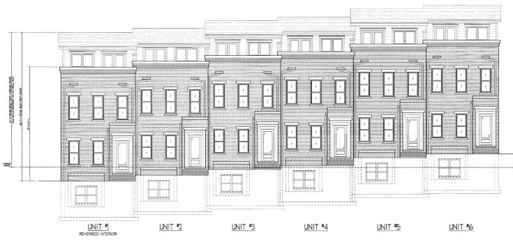 Rendering of proposed townhomes