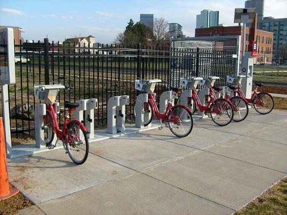 Denver Bike Share Station by David McSpadden