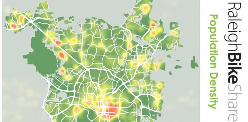 2014 Raleigh Bike Share Feasibility Study - Population Density