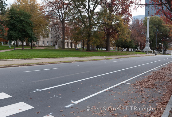New bike lane on Hillsborough Street