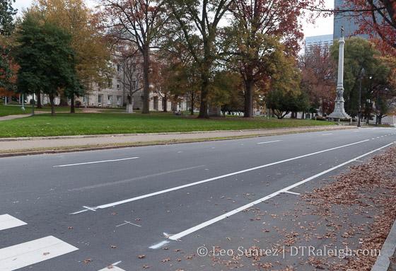 New bike lane on Hillsborough Street