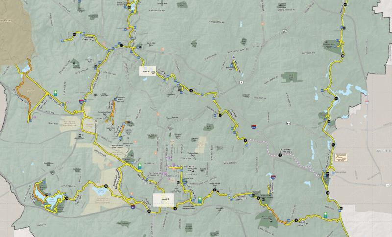 Raleigh Greenway map section