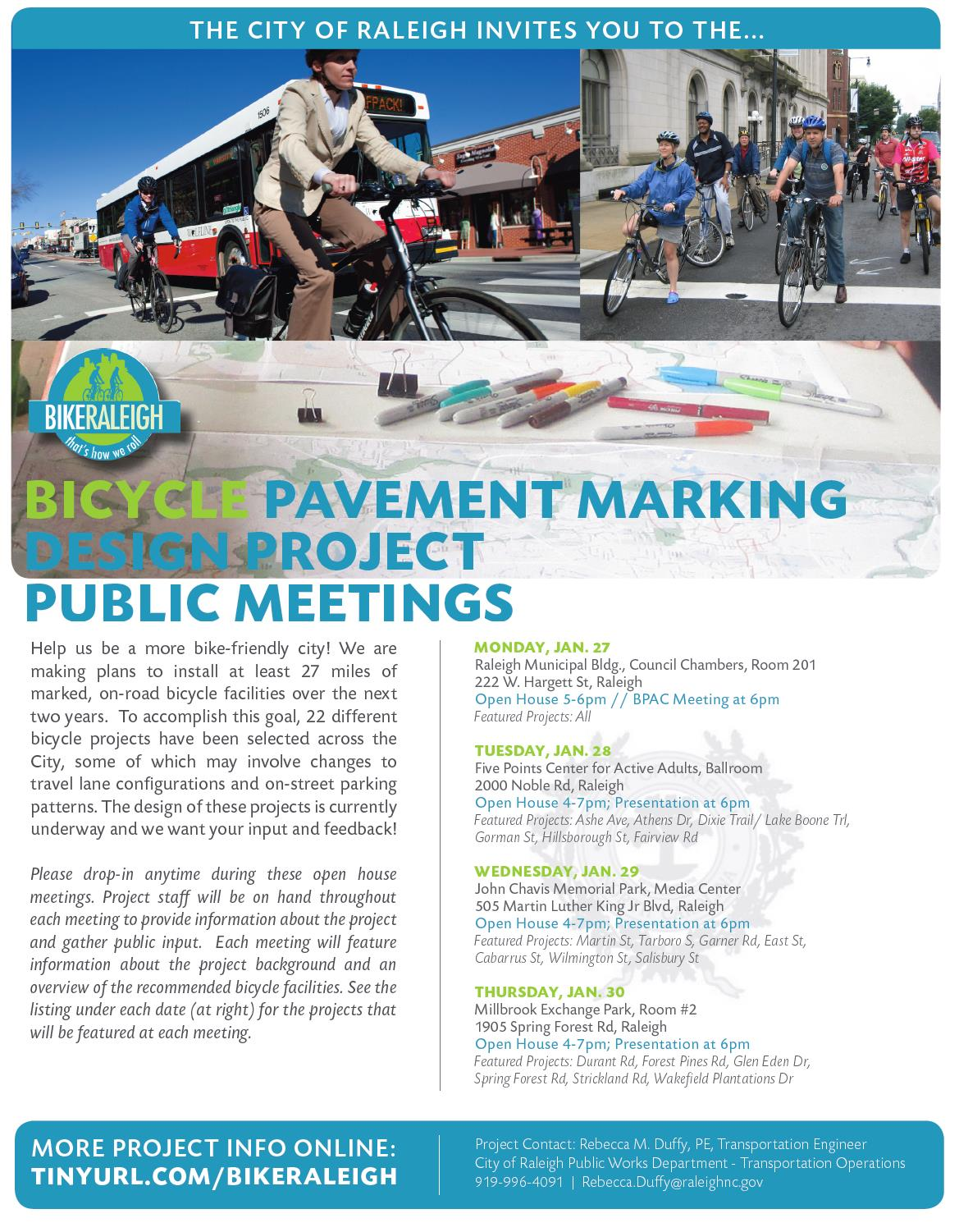 Bicycle Pavement Marking Design Project Public Meetings