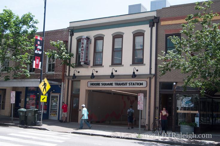 Wilmington Street entrance to the GoRaleigh Station