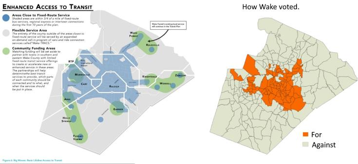 Voter Distribution of 2016 Transit Tax Referndum