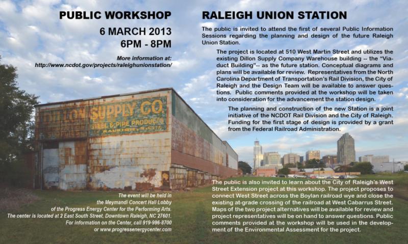 Raleigh Union Station Public Workshop