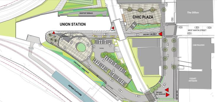 Raleigh Union Station site plan.