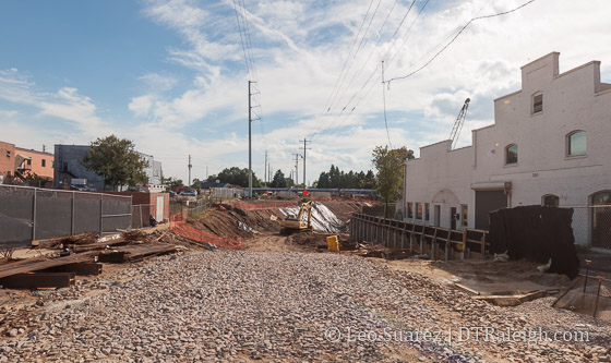 Boylan Wye and Raleigh Union Station Construction, October 2016.