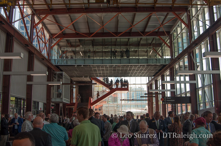 Dedication ceremony for Raleigh Union Station on April 30, 2018.
