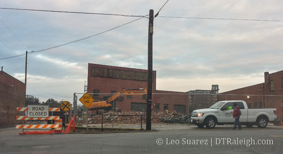 Demolition taking place at Raleigh Union Station