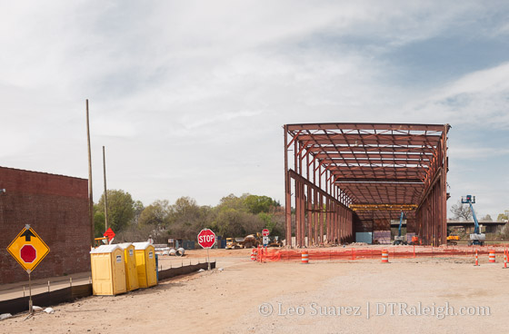 Raleigh Union Station construction site March, 2016.