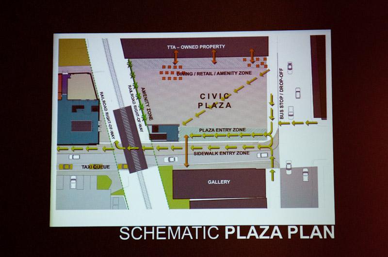 Raleigh Union Station civic plaza