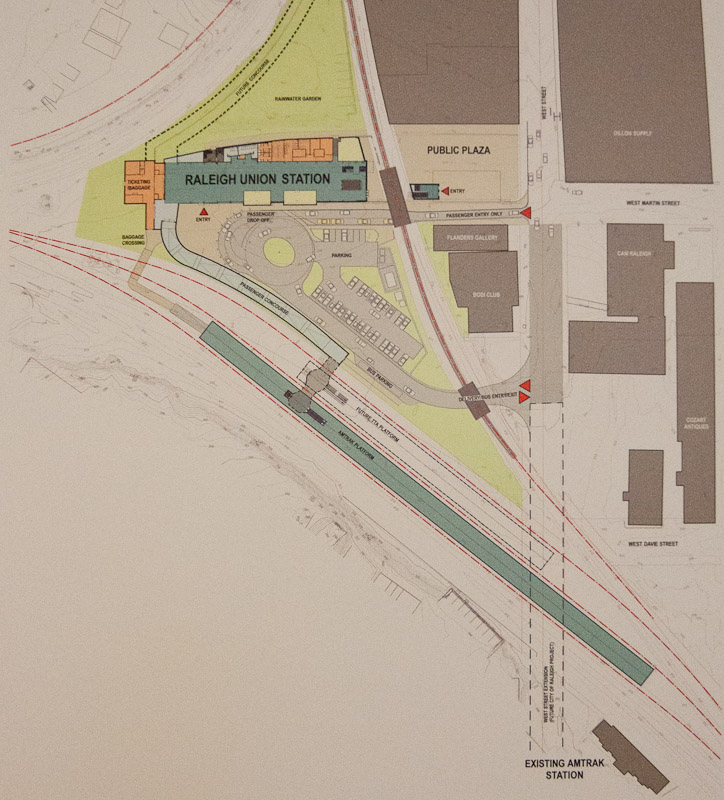 Raleigh Union Station site plan