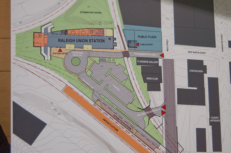 Raleigh Union Station new layout