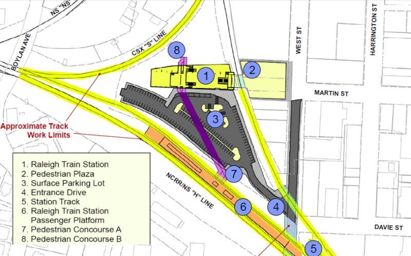 Raleigh Union Station Original Layout