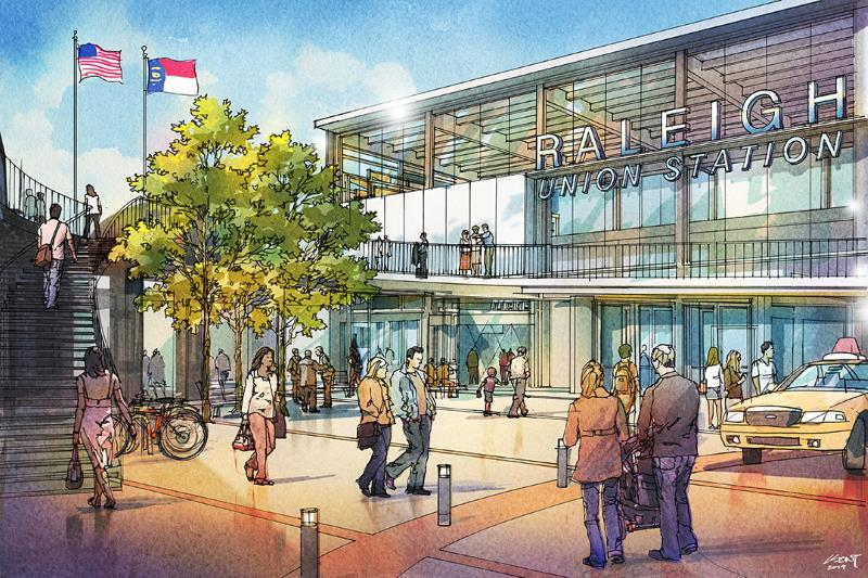 Raleigh Union Station Rendering