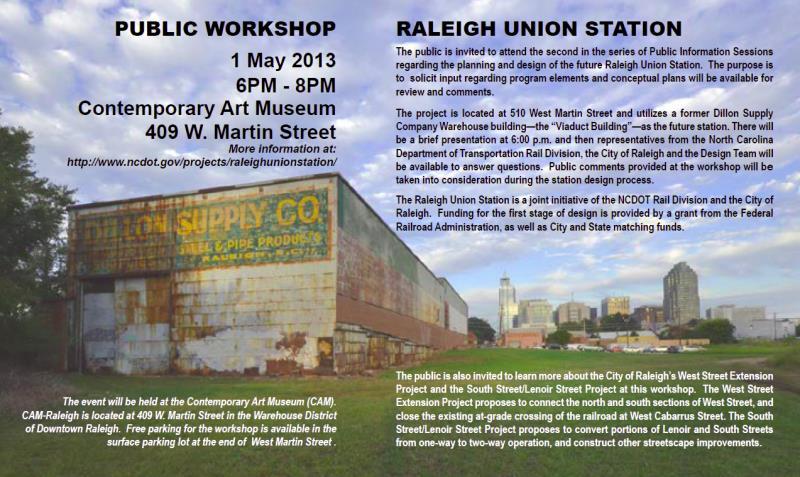 Union Station Public Workshop