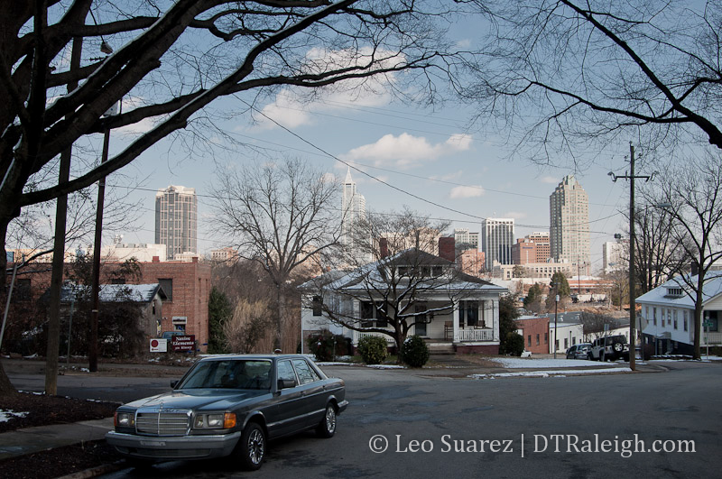 View of downtown Raleigh from Boylan Heights