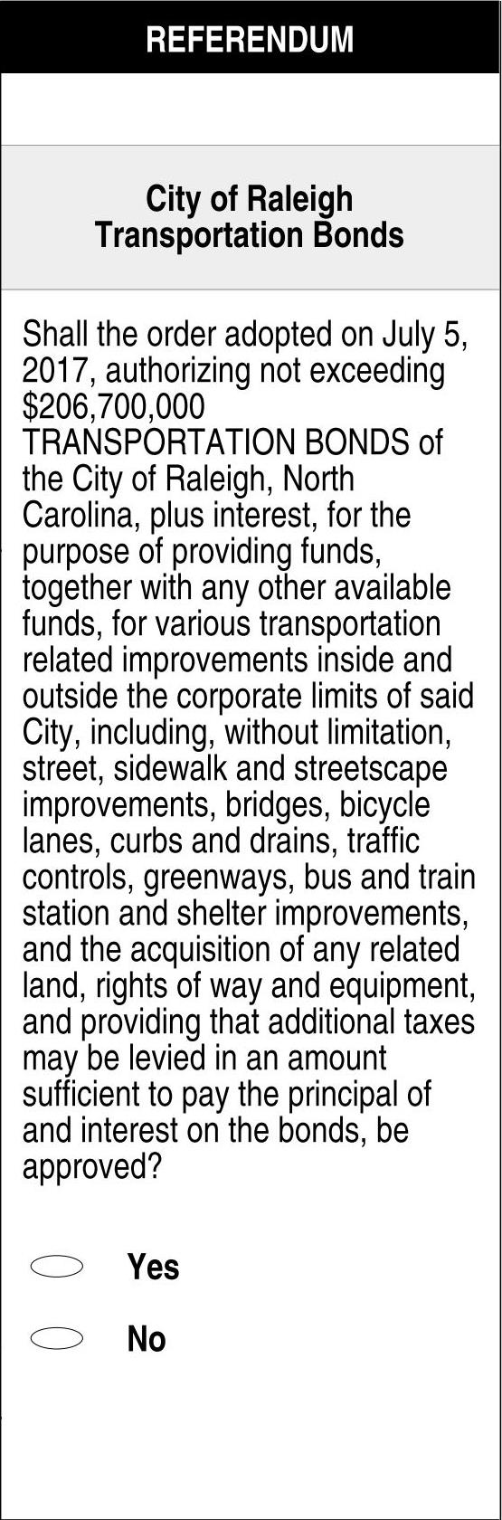 Sample Ballot of 2017 Transportation Bond