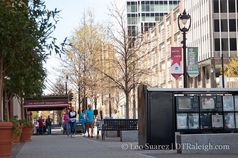Sidewalks of Fayetteville Street