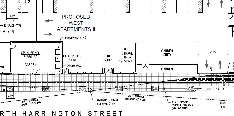 Proposed plans for West Apartments II